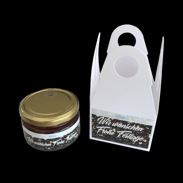 250g Honig in Geschenkpack mit deinem eigenen Design